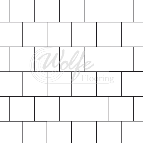 Brick Or Subway Or 50 Percent Offset With Square Tiles