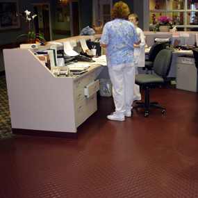 Rubber Flooring in Senior Home's Nursing Station