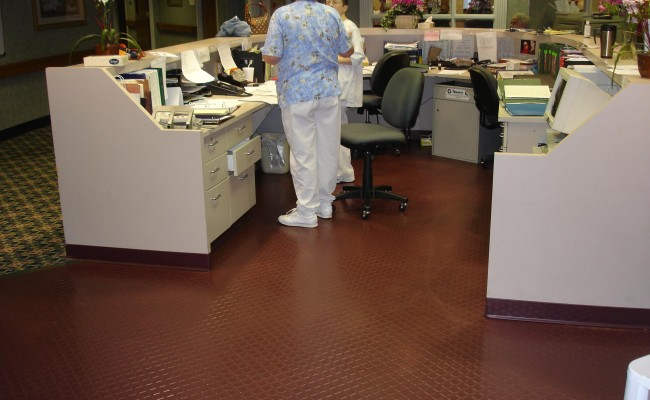 Daytona, FL – Johnsonite Solid Rubber Tile – Senior Living Facility's Nurses' Station (1)