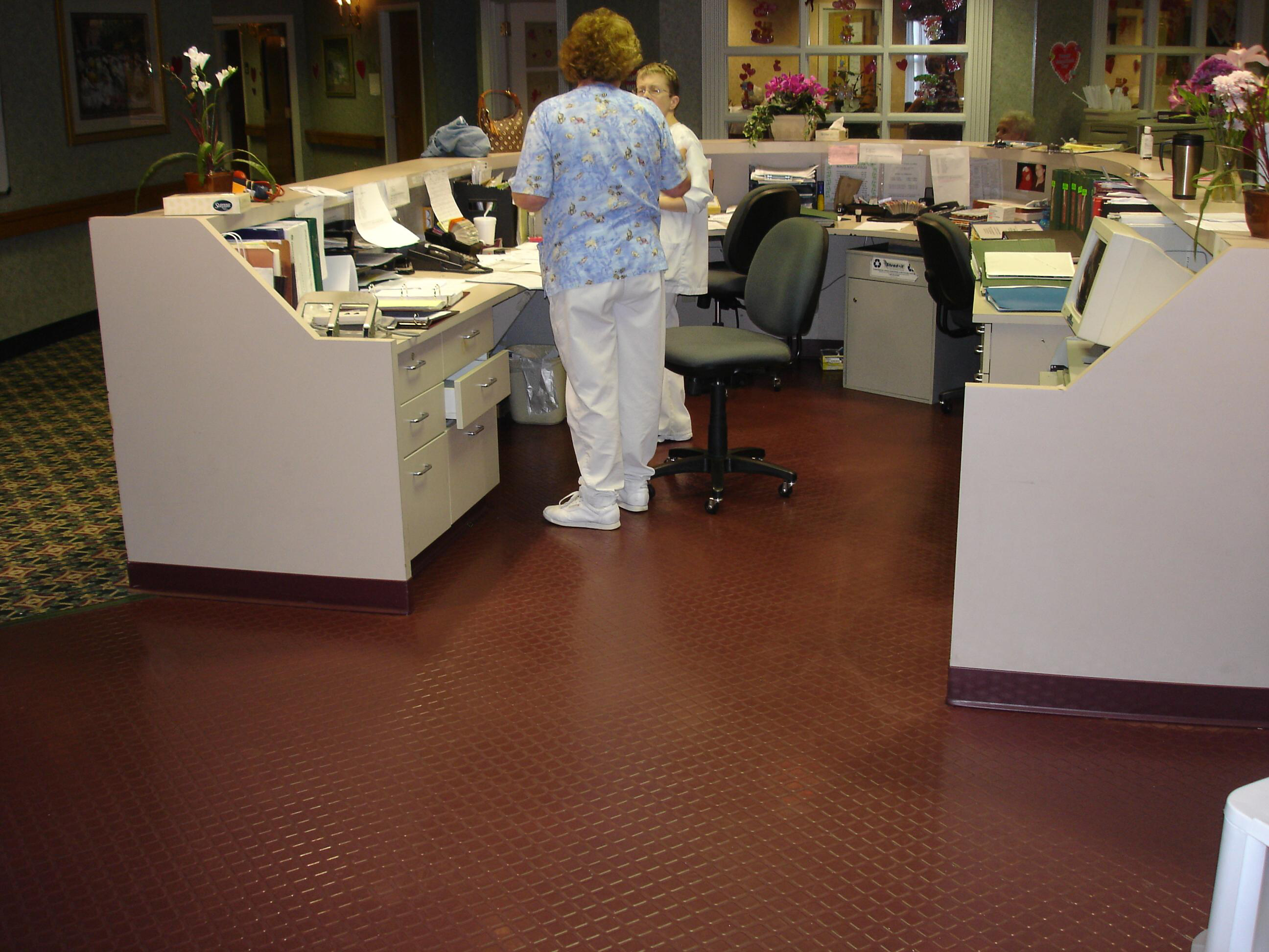 Rubber Flooring In Senior Home S Nursing Station