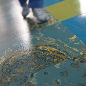 Rubber Floor Sample - Oil-and-water Effect by Johnsonite