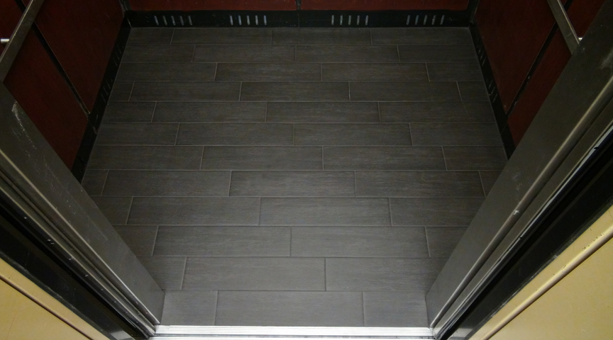 Going Up with a Commercial Porcelain Ceramic Tile