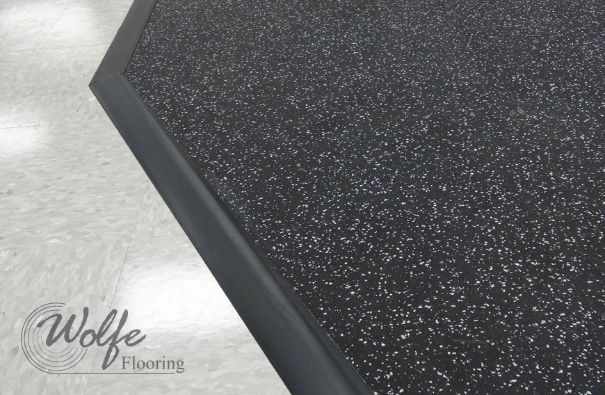 Rubber is perfect for Ada compliant flooring