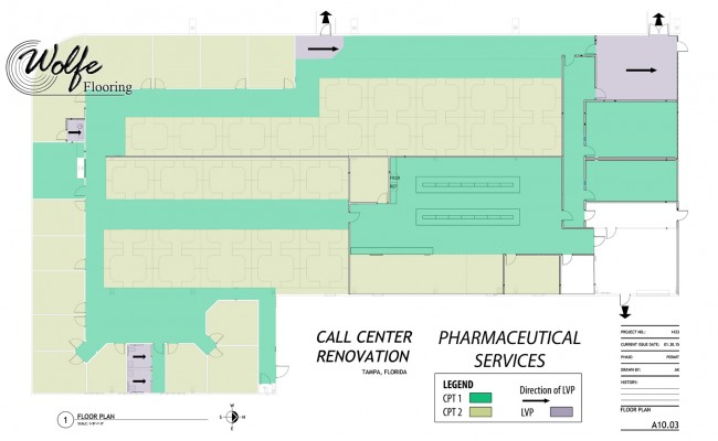 2015-07-30 Pharmaceutical Call Center and Lab 7 – Modular Carpet and Luxury Vinyl Flooring