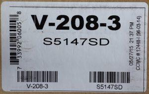 Tarkett Azrock V-208 Powder Grey Label 1