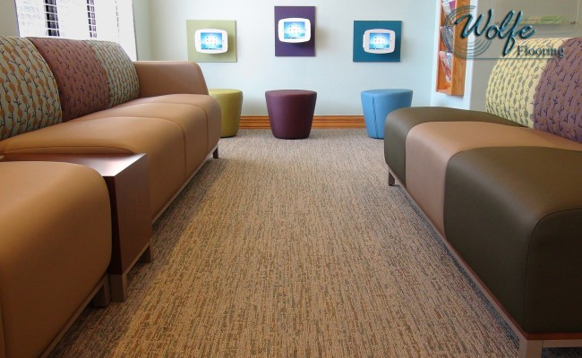 08 Waiting Room Sitting Area – Linear Commercial Carpet