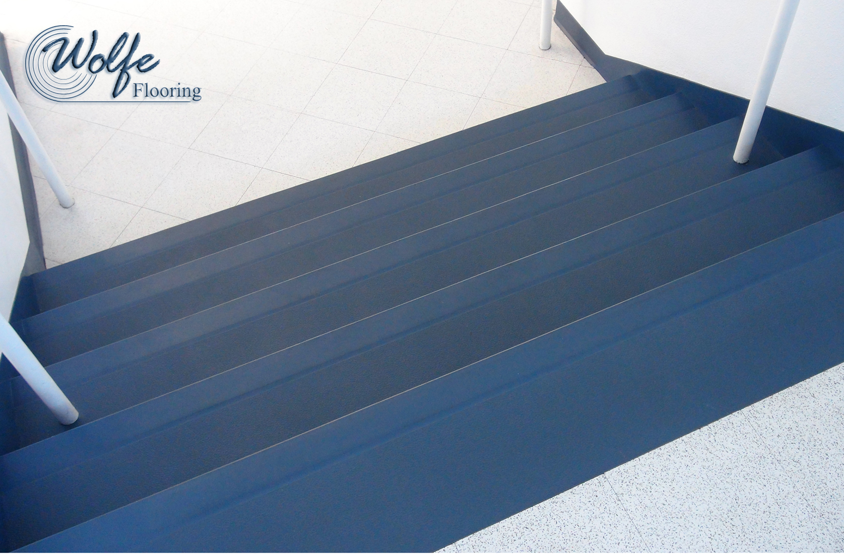 ... 10 Commercial Roppe Rubber Flooring On Stair Treads Risers And Stringers