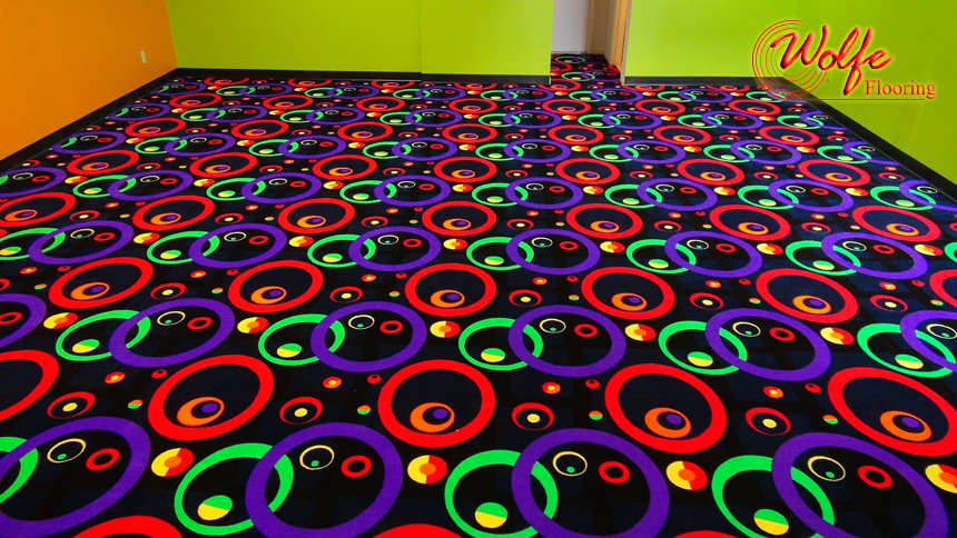 Out-of-the-Box Commercial Carpet with Bright Colors