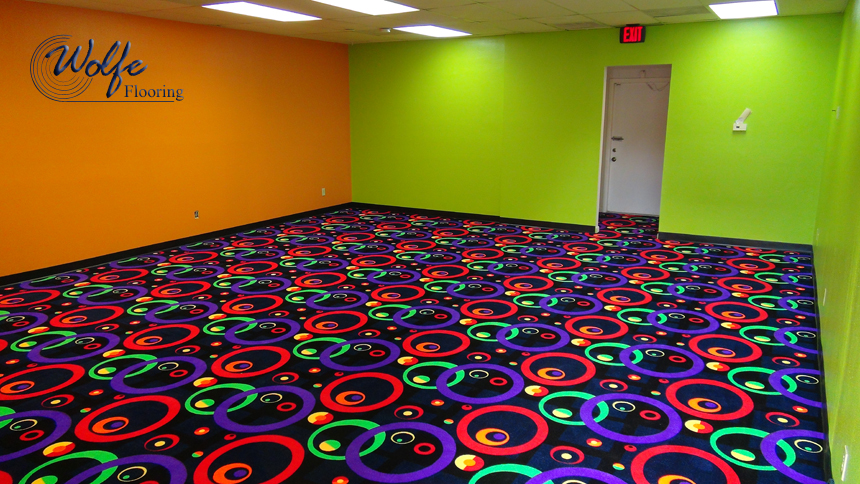 Bright Colors on the Walls and Floors ... Fun!