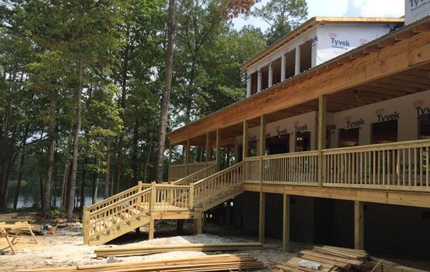 Fran's Wooded Lodge During Construction
