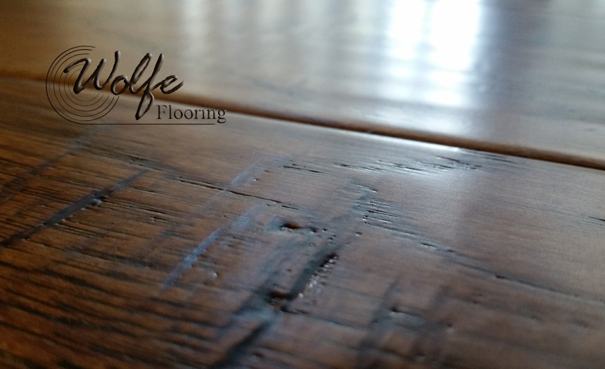 Private Lodge Gets Hand Scraped Hardwood