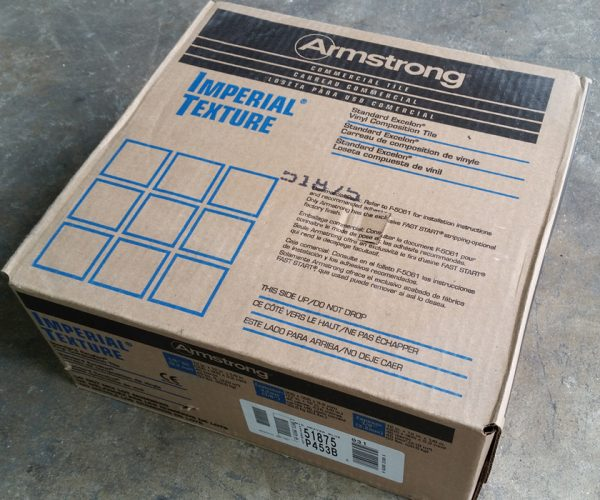 Carton of Armstrong VCT 51875 Mid Grayed Blue