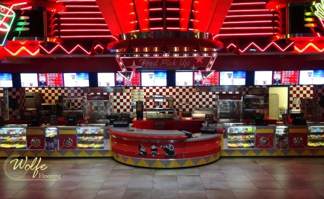 Theater's Fun Food Deserves Premium Porcelain (5) Concession Area