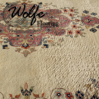 Example of a Threadbare Rug - Worn on the Right Side