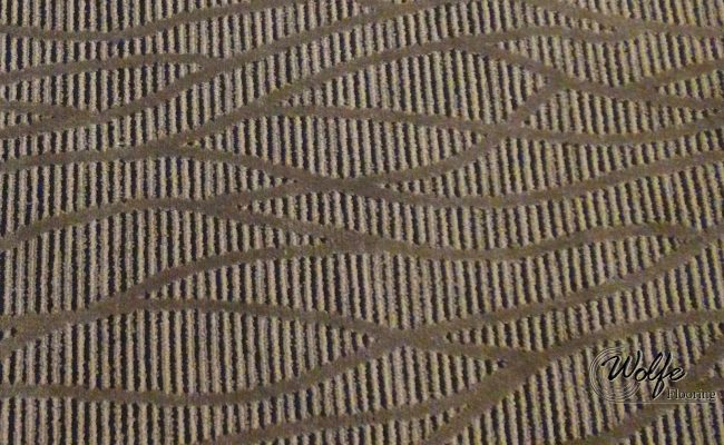 2016 Downtown Restaurant Double-stick Carpet Installation (06) Meandering Lines over Linear Pattern