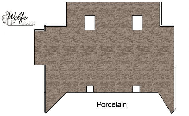 2016 Downtown Restaurant Double-stick Carpet Installation (07) – Diagram