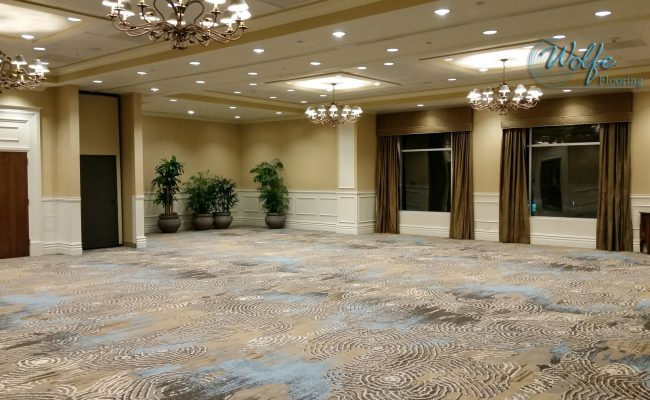 20-Story Open Atrium Hotel (03) – Meeting Room – CYP Carpet with 15-Foot Pattern