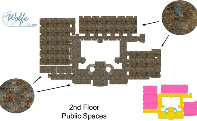20-Story Open Atrium Hotel (04) – Durkan's 2-D Perspective of Public Spaces – Paper Strike-off