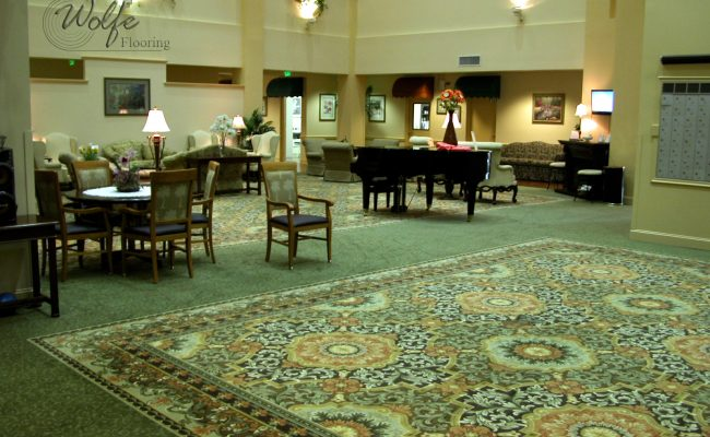 02 Carpet and Hardwood for Venice Seniors Sitting Area Large Carpet Rug