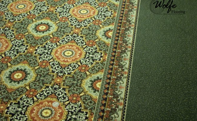 03 Carpet and Hardwood for Venice Seniors Border Carpet and Panel Rug