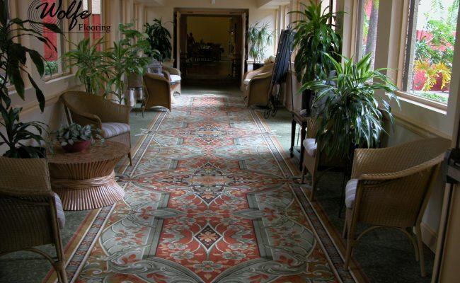 04 Carpet and Hardwood for Venice Seniors Custom Carpet for Corridor