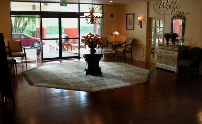 06 Carpet and Hardwood for Venice Seniors Entrance Inset Rug and Hardwood