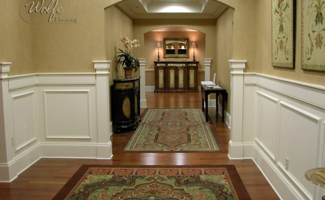 5S Clearwater Senior Living 01 Carpet Inlays into Hardwood – Public Space