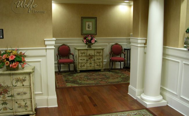 5S Clearwater Senior Living 02 Carpet Inlays into Hardwood – Public Space