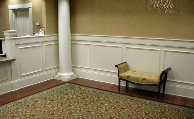 5S Clearwater Senior Living 04 Carpet Inset into Hardwood – Public Space