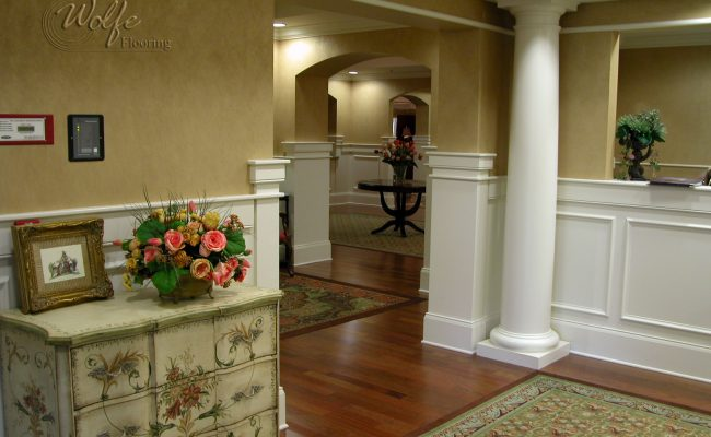 5S Clearwater Senior Living 05 Carpet Inlays into Hardwood – Public Space
