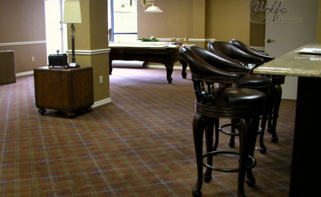 5S Clearwater Senior Living 09 Plaid Carpet in Billiards Room and Bar