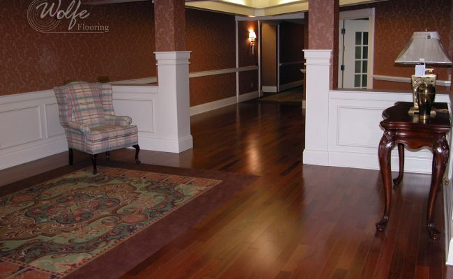 5S Clearwater Senior Living 12 Elevator Lobby – Carpet Panel Rug Inlaid into Hardwood