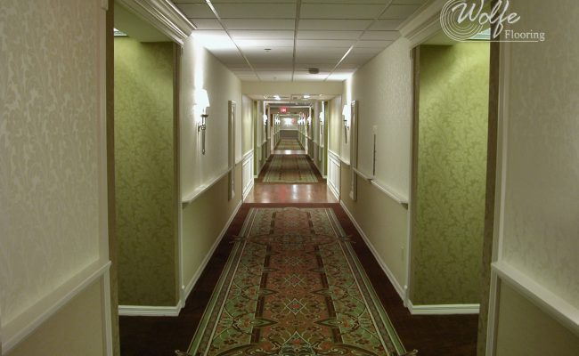 5S Clearwater Senior Living 13 Custom Carpet and Hardwood in Corridor