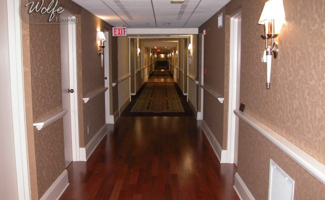 5S Clearwater Senior Living 15 Custom Carpet and Hardwood in Corridor