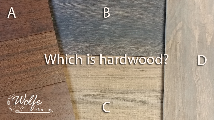 Visual Comparison of Hardwood, Porcelain, and LVP