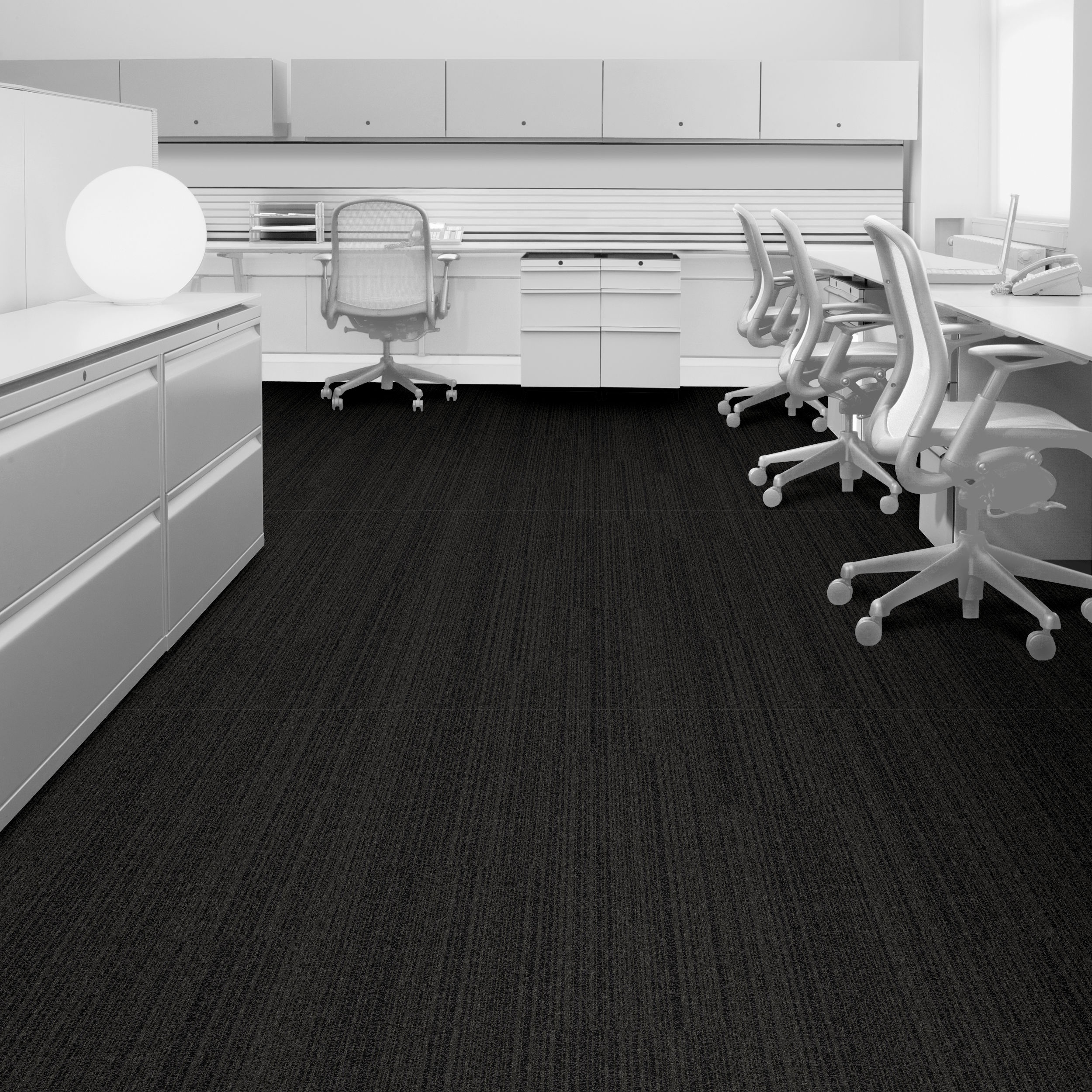 Interface BP410 Ember 104655 Carpet Plank - Simulated Office