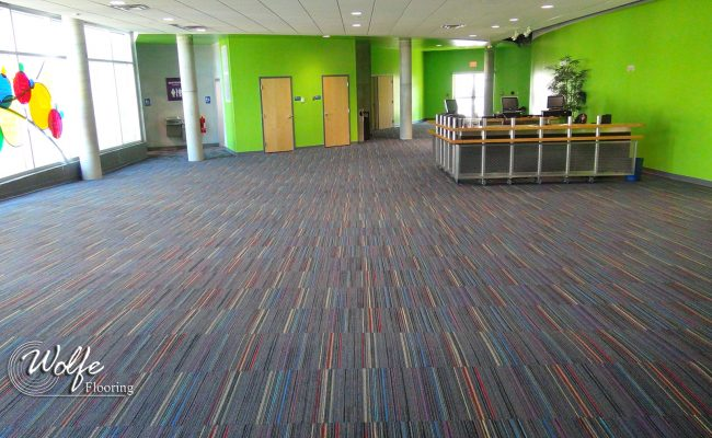 2017-11-14 MOSI 02 Lobby Using Roy G Biv Carpet by Interface