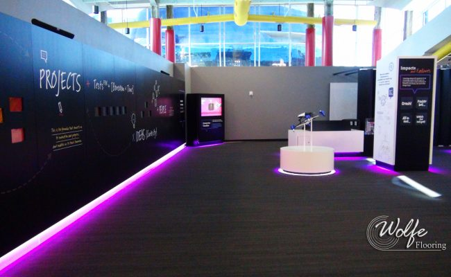 2017-11-14 MOSI 06 Bike Path BP410 Carpet by Interface in the Interior Exhibit Area